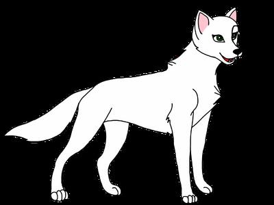Модель волка самка