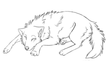 Пиксель кормящей волчицы