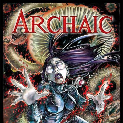 ARCHAIC #11 cover, pencils and colors