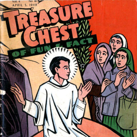 Cover to April 5, 1949 issue of <i>Treasure Chest</i>
