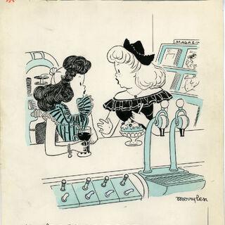 Soda Fountain cartoon