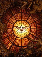 Rom, Vatikan, Basilika St. Peter, Die Taube des Heiligen Geistes (Cathedra Petri, Bernini)