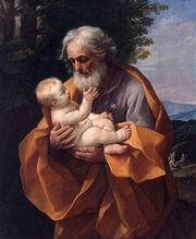 Saint Joseph with the Infant Jesus by Guido Reni, c 1635