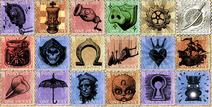 Postal wallpaper stamps