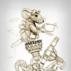 Мышь Соня, ранний скетч.