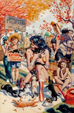 Wonder Woman kittens Steve Rude
