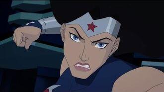 "Wonder Woman Bloodlines clip - ""Robot Fight"""