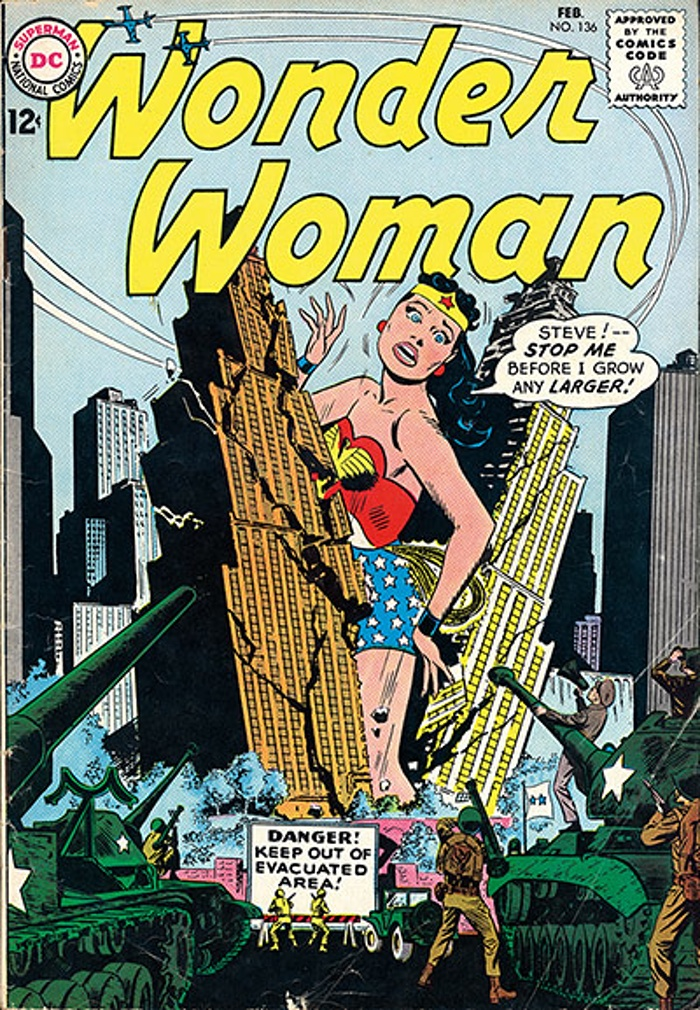 Wonder Woman Giantess Growth Comic Book Jpeg