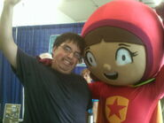 Me and wordgirl at the state fair