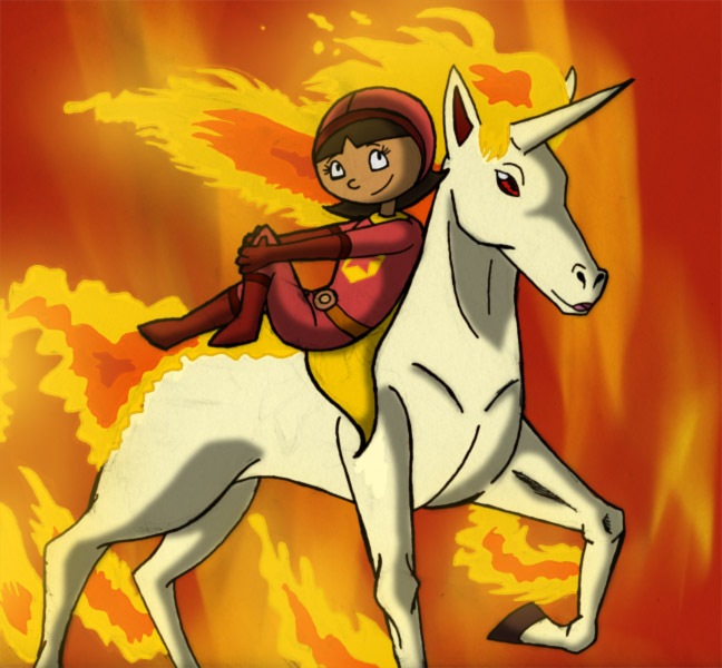 Wordgirl And Rapidash By Intelligent Zombie
