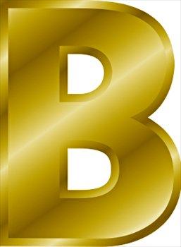 Image Gold letter B WikiWords