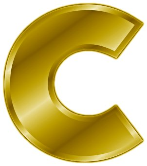 File:Gold Letter C  on Latest Write A Letter