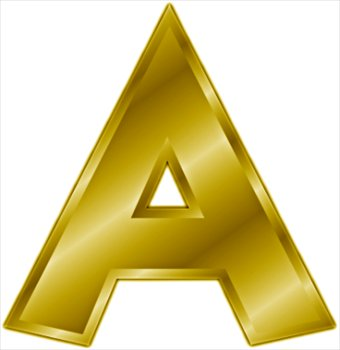 Image Gold letter A WikiWords