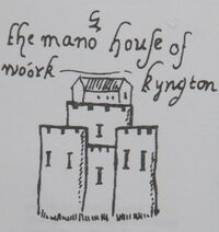 Workington Hall from 1569 town plan