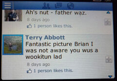 Wookitun 2016-07-14 by Tony Abbott to Kane grandson of Wheelwright Wkn on facebook low dpi