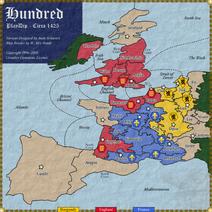 Hundred diplomacy map
