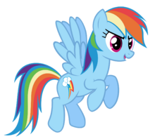 FANMADE Rainbow Dash flying 2