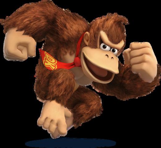 File:SSB4 - Donkey Kong Artwork.png