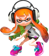 A female Inkling ready for battle