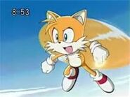 Tails was holding a ring while flying