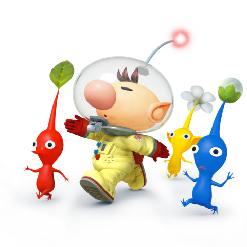 File:Captain Olimar and Pikmin - Super Smash Bros. for Nintendo 3DS and Wii U.png