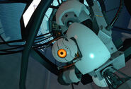 GLaDOS' Curiosity Core attached