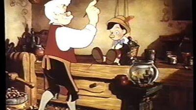 Pinocchio (1940) Trailer (VHS Capture)
