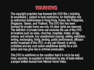 Warner Bros. R3 Warning English