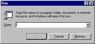 Windows95 run