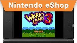 Nintendo eShop - Wario Land 3 Trailer