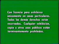 Green Warning Screen (Spanish)