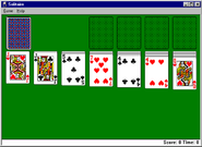 Windows95 solitaire