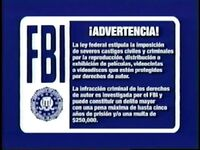 Blue FBI Warning Screen (Spanish)