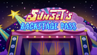 Sunset's Backstage Pass title card