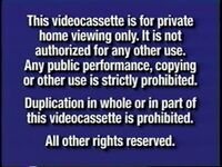 Disney Navy Blue Warning (2000) VHS