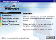 Windows98 welcome