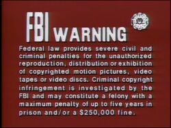 Fox Warning Screen (1984)