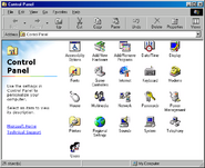 Windows98 controlpanel