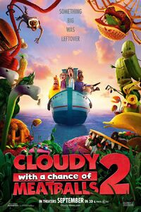 Cloudywithachanceofmeatballs2 poster