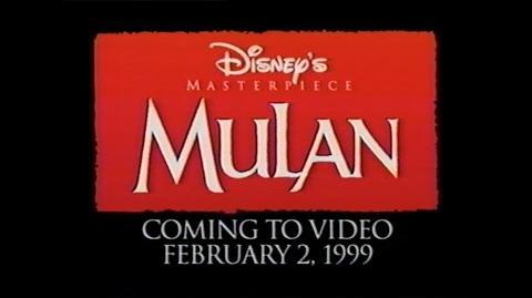 MULAN MOVIE TRAILER -VHS- 1998