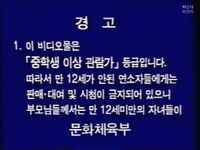 Korean Warning Scroll (12 Rating)