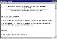 Windows95 readme
