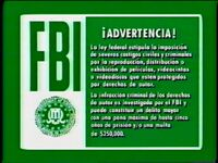Green FBI Warning Screen (Spanish)