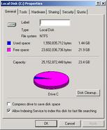 Windows2000 diskspace