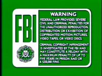 Disney Green FBI Warning (1991) VHS