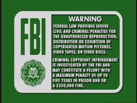 Disney Green FBI Warning (1997)