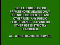 Disney Green Warning (1997) Laserdisc