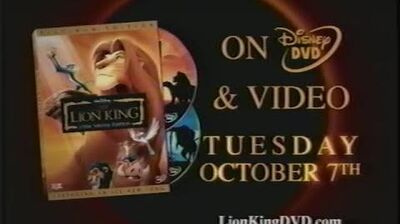 The Lion King Platinum Edition Rare Trailer 2003!!!