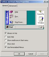 Windows2000 taskbar