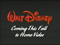 Walt Disney - Coming this Fall to Home Video